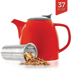 Ceramic Teapot with Infuser - Red