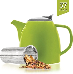Ceramic Teapot with Infuser - Lime